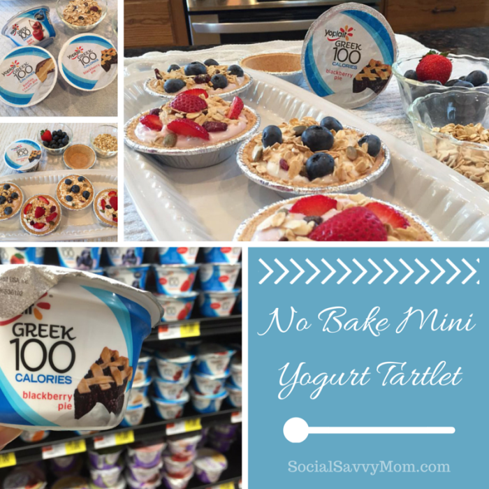 No Bake Mini Yoplait® Greek Yogurt Tartlets